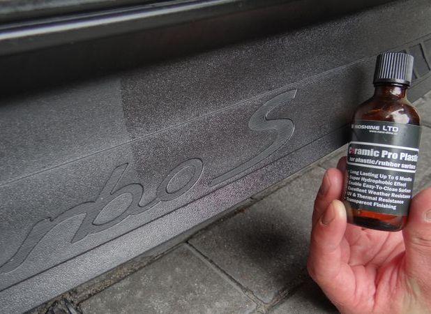 Пропитка пластика автомобиля составом Ceramic pro